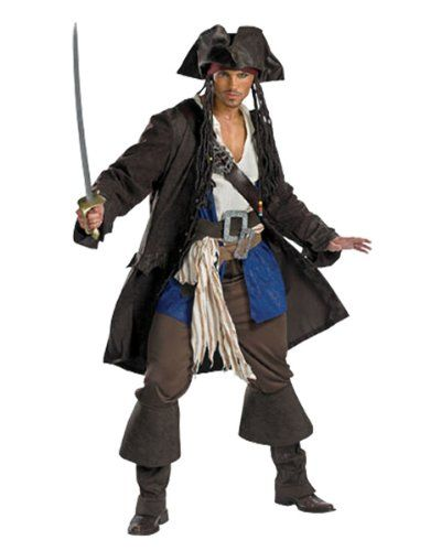 Captain Jack Sparrow Prestige Premium Adult Halloween Costume & Accessory Bundle True Reviews