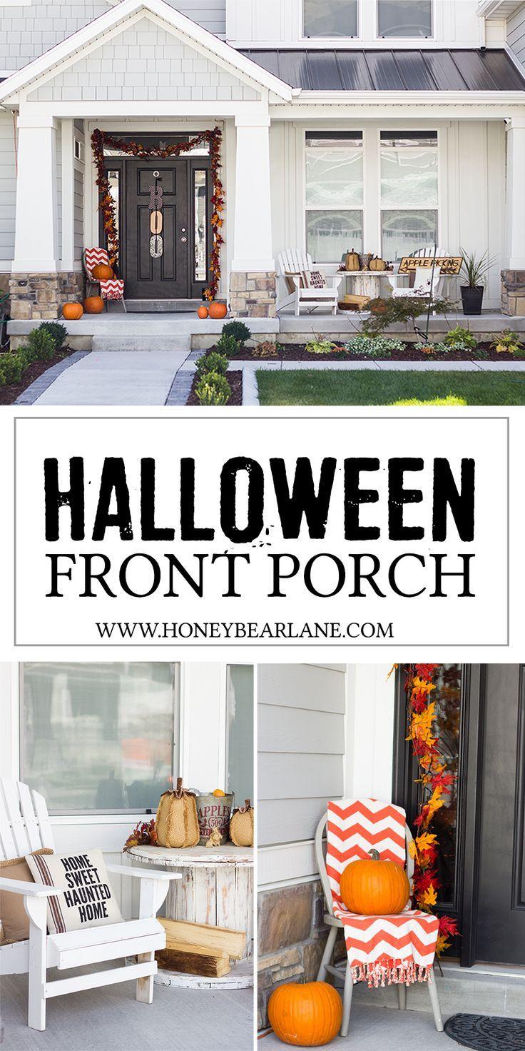 Farmhouse Halloween Front Porch Decor | Pinterest | Front porches ...