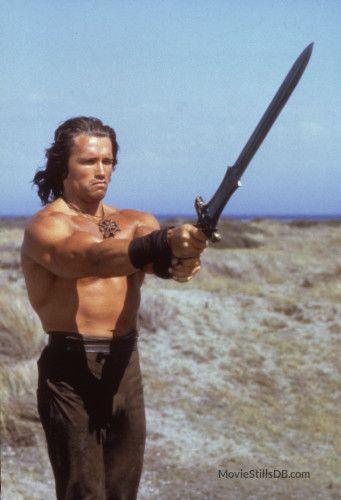 Conan The Barbarian Publicity Still Of Arnold Schwarzenegger Conan The Barbarian Movie Barbarian Conan The Barbarian