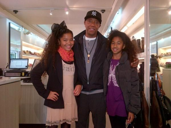Russell with daughters Ming 12 and Aoki 10 June 2012