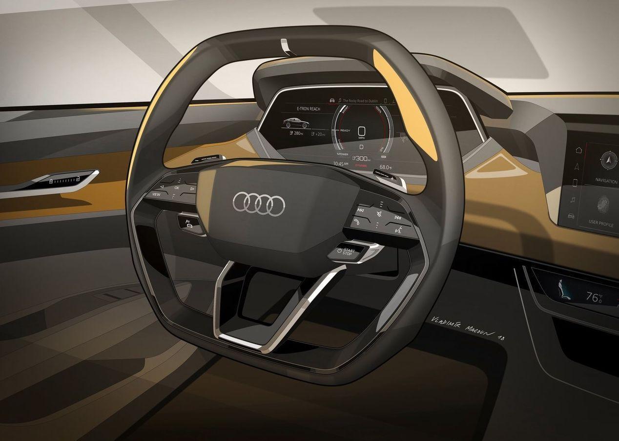 Audi Etron Gt Audi Etron Gt In 2020 Steering Wheel Interior Design Sketch Audi E Tron