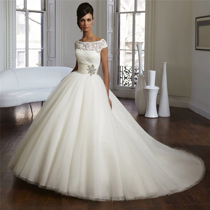 2015 Couture Ball Gown Elegant Wedding Dress Lace Tulle Plus Size ...