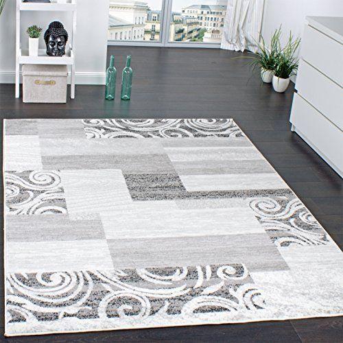 AuBergewohnlich Designer Teppich Wohnzimmer Teppich Kurzflor Muster In Grau Creme  Preishammer, Grösse:160x220 Cm,