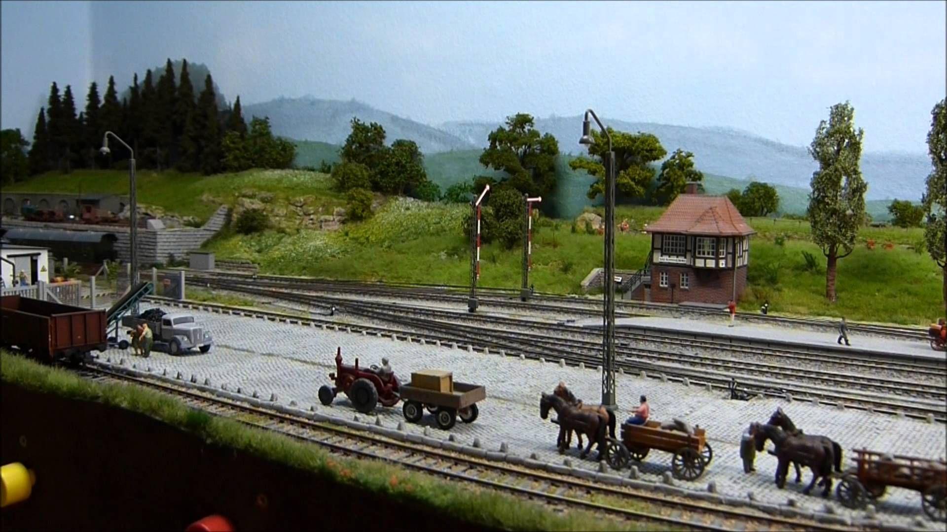 Mein Modellbahn Endbahnhof H0 | modellbahn - Landschaft ...