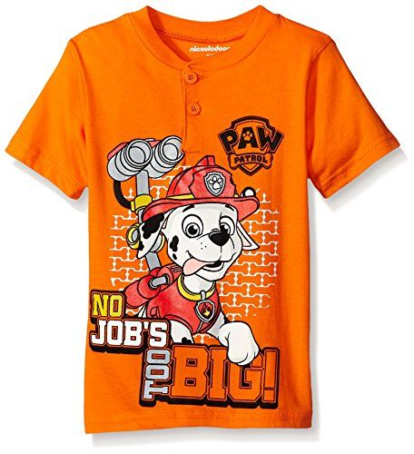 Nickelodeon Boys Little Boys Paw Patrol Short Sleeve Character TShirt Shirt Orange 6 ** Be sure to check out this awesome product.Note:It is affiliate link to Amazon.