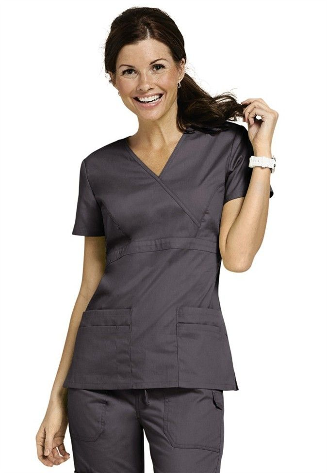 8c798b6b37e Dickies EDS Signature mock wrap scrub top. | office | Scrubs, Scrub ...