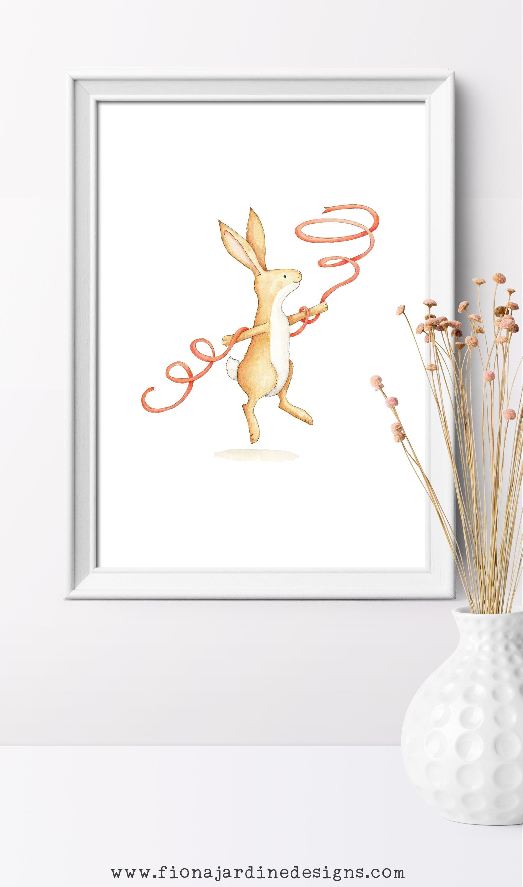 Print nursery rabbit newborn girl gift ideas rabbit nursery