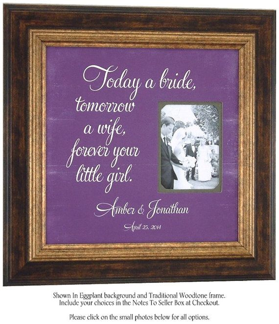 Personalized Wedding Frame Sign by PhotoFrameOriginals | Pin ...