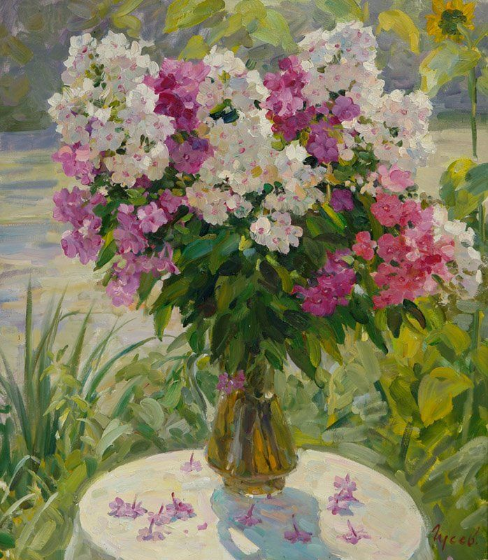 Vladimir Gusev 1957   Russian Plein-air Figurative painter