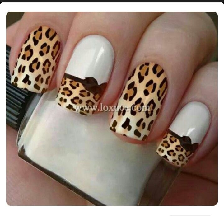 beautiful leopard print unhas