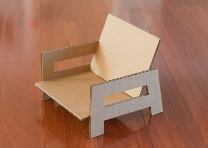Sweet And Easy DIY Toy Cardboard Chair For A Kids Room