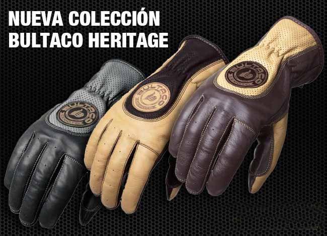 guantes de moto bultaco heritage