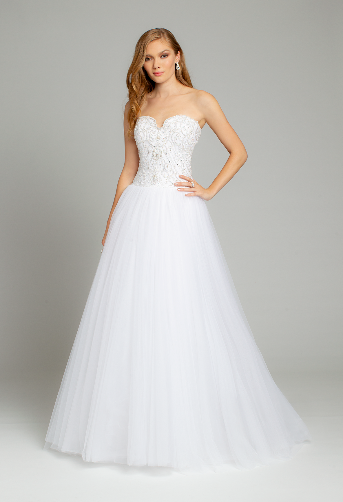 Wedding decorations set october 2018 Tulle Beaded Sweetheart Ballgown Wedding Dress by Camille La Vie in