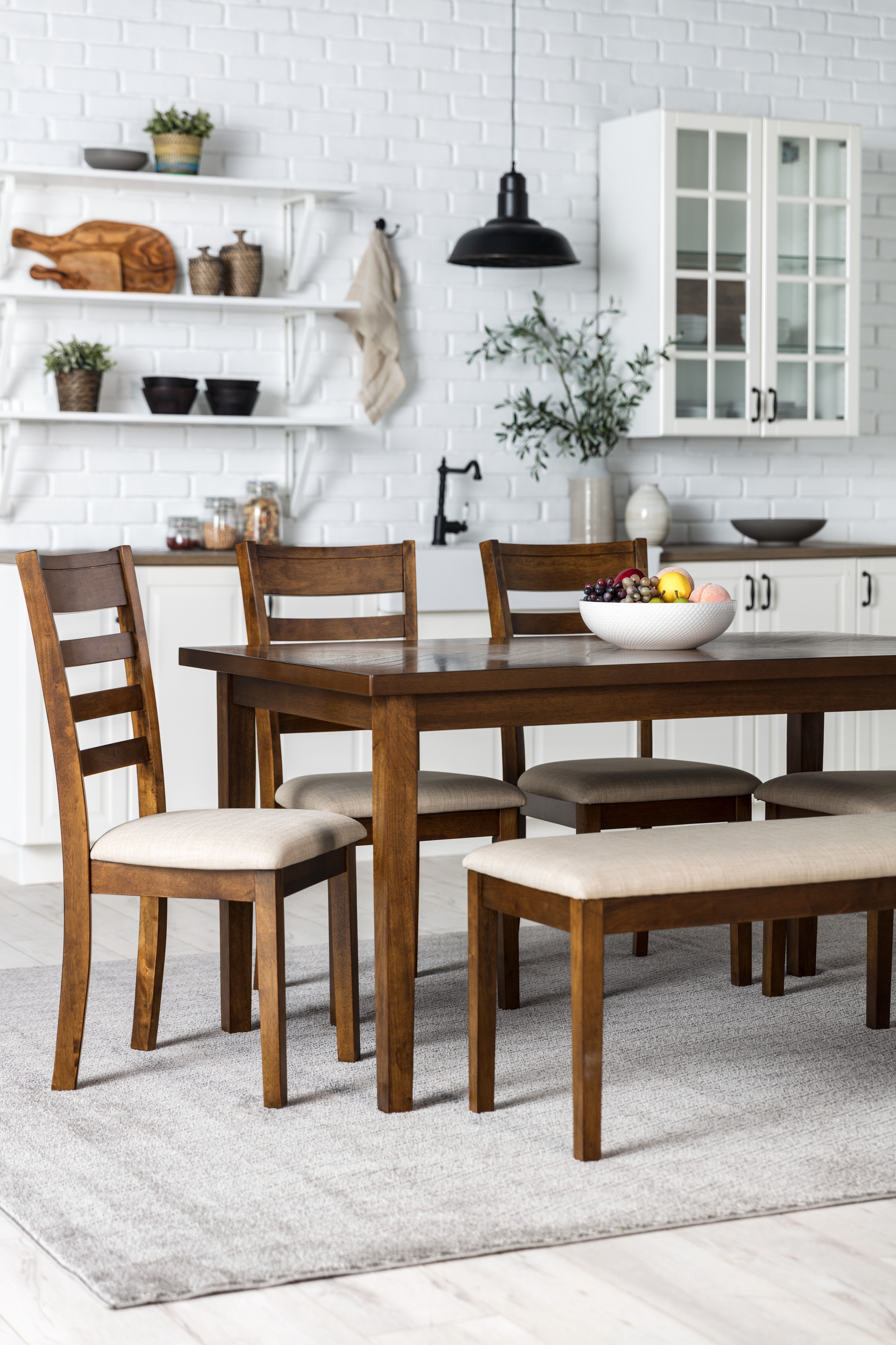 Dining Set With Bench Seating Entertaining Is Effortless