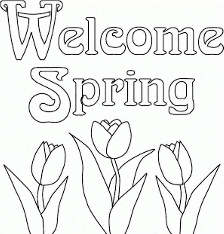 Print Out And Color Coloring Pages Index Main Things To Do Spring Coloring Pages Spring Coloring Sheets Spring Pictures To Color