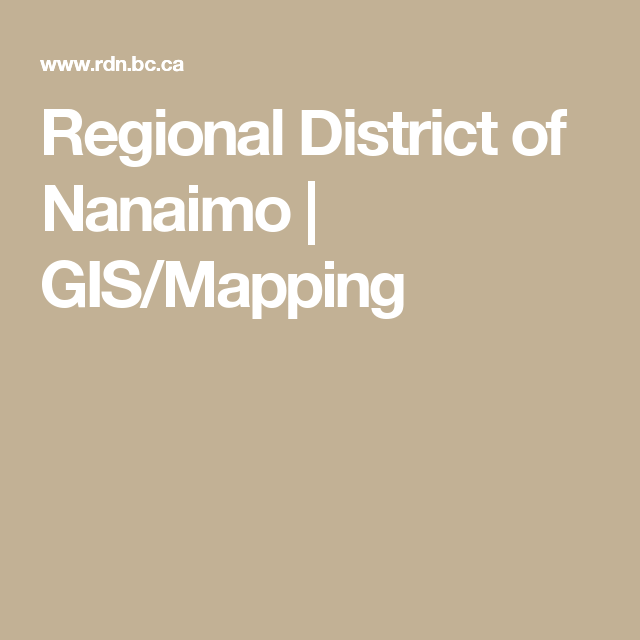 Regional District of Nanaimo | GIS/Mapping