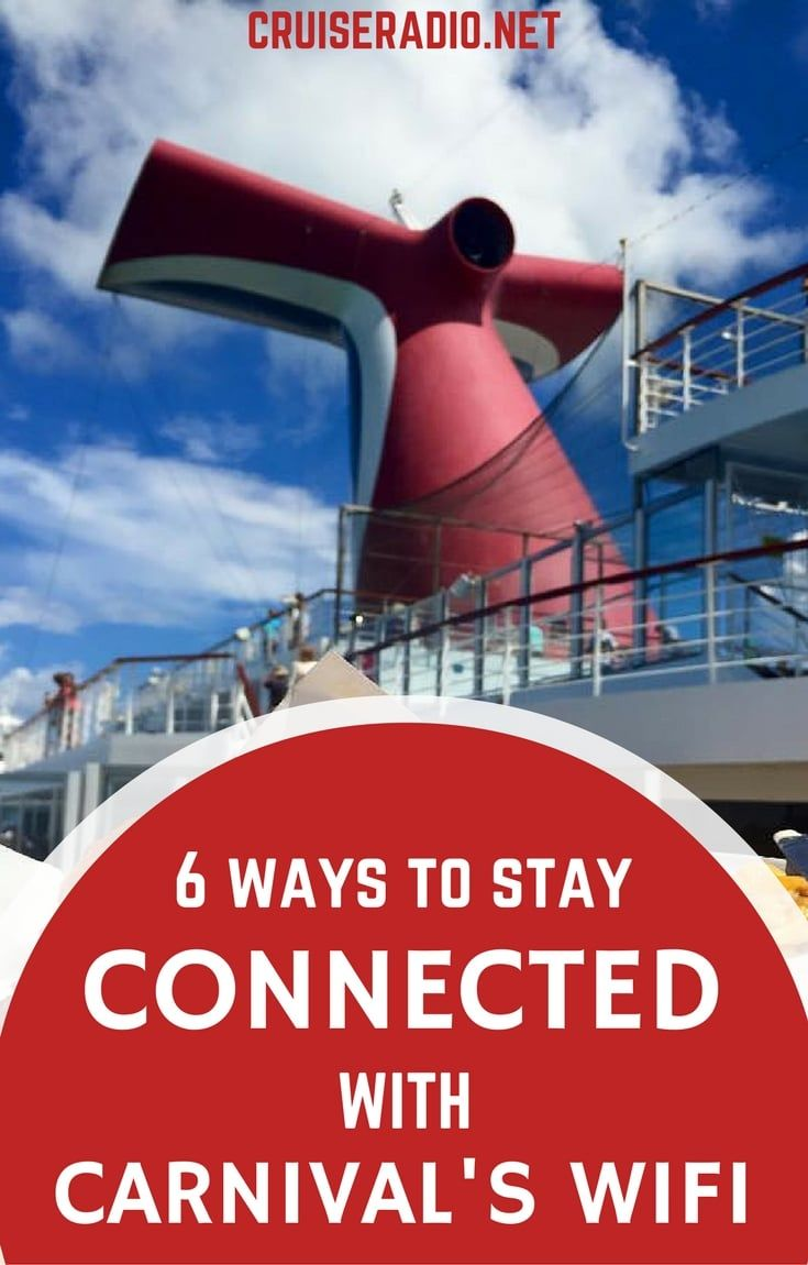 Carnival Cruise Internet >> 6 Ways To Stay Connected With Carnival S Wifi Cruising Carnival