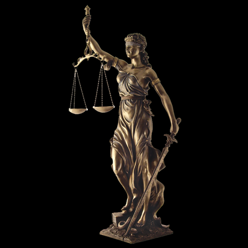 This Lady Justice Goddess Of Law And Order Statue Was Forged In Cold Cast Bronze And Stands 30 Inches Tall The Origi Lady Justice Lady Justice Statue Statue