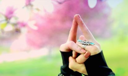 """Mudra is an ancient Sanskrit term meaning, """"gesture."""" We use mudras in yoga to cultivate a greater sense of awareness to certain energetic fields within the subtle body. In other words, we can use"""