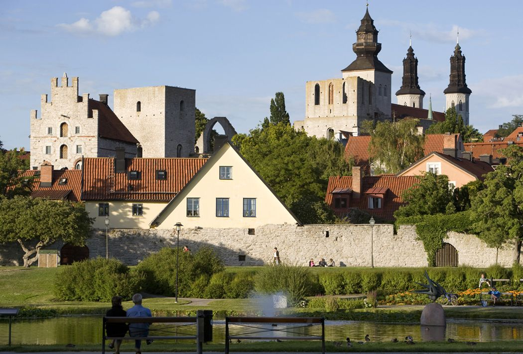 Almedalen in Visby at Gotland © stig Hammarstedt