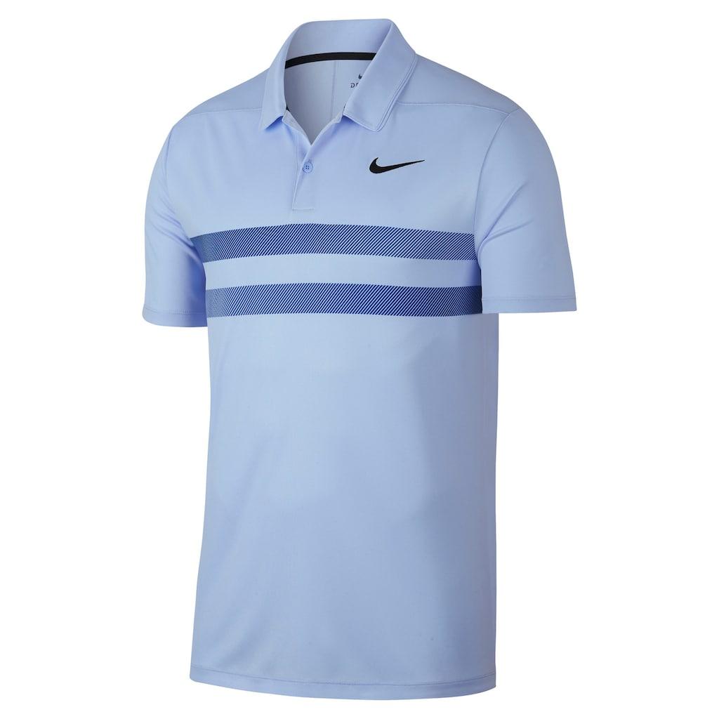 1979cde3 Men's Nike Essential Dri-FIT Striped Golf Polo, Size: Medium, Blue (Navy)