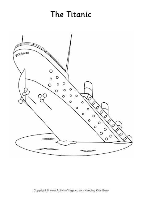 Titanic Colouring Page Titanic Colouring Pages Coloring Pages
