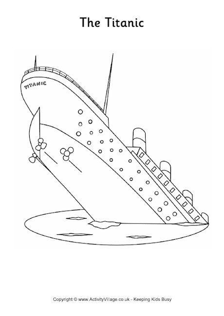 Titanic Colouring Page Titanic Colouring Pages Titanic Drawing