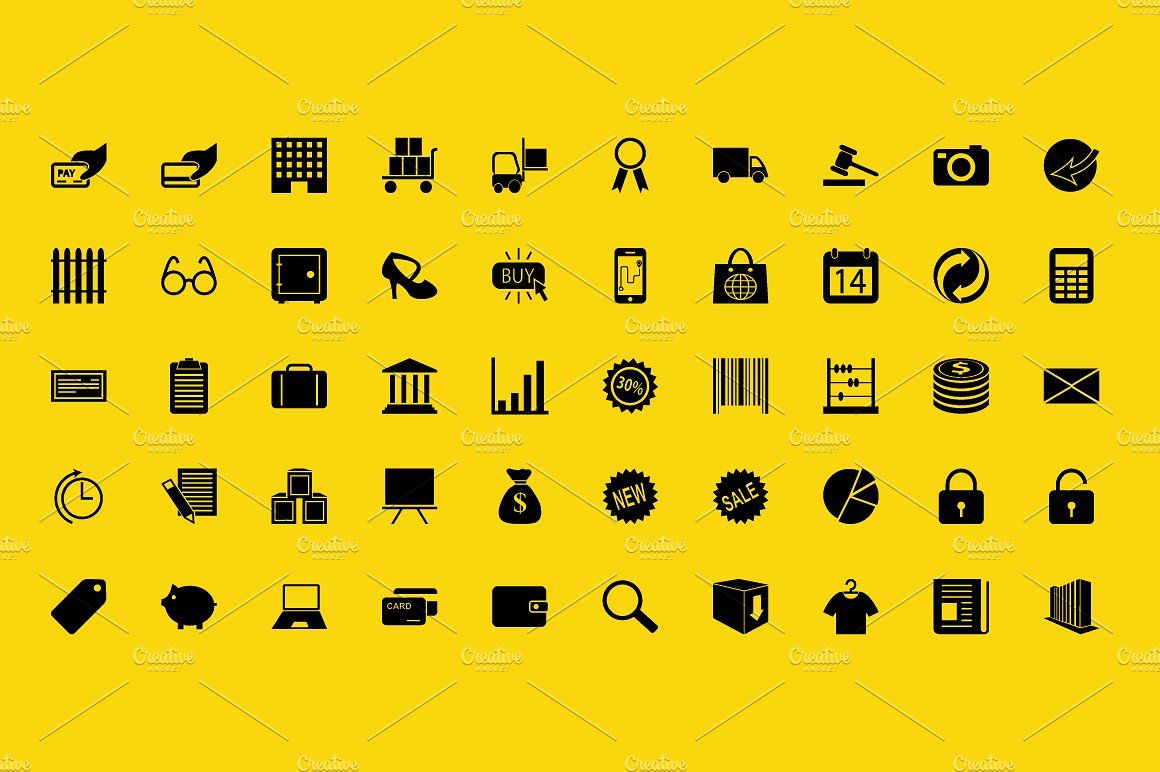 100 Vector Icons Pack Customizedownloadset