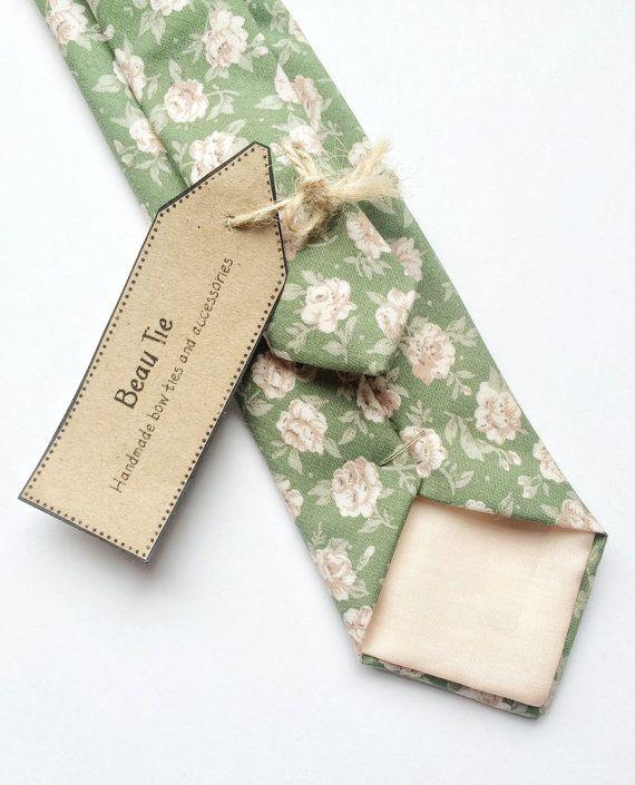 Sage Green Skinny Necktie