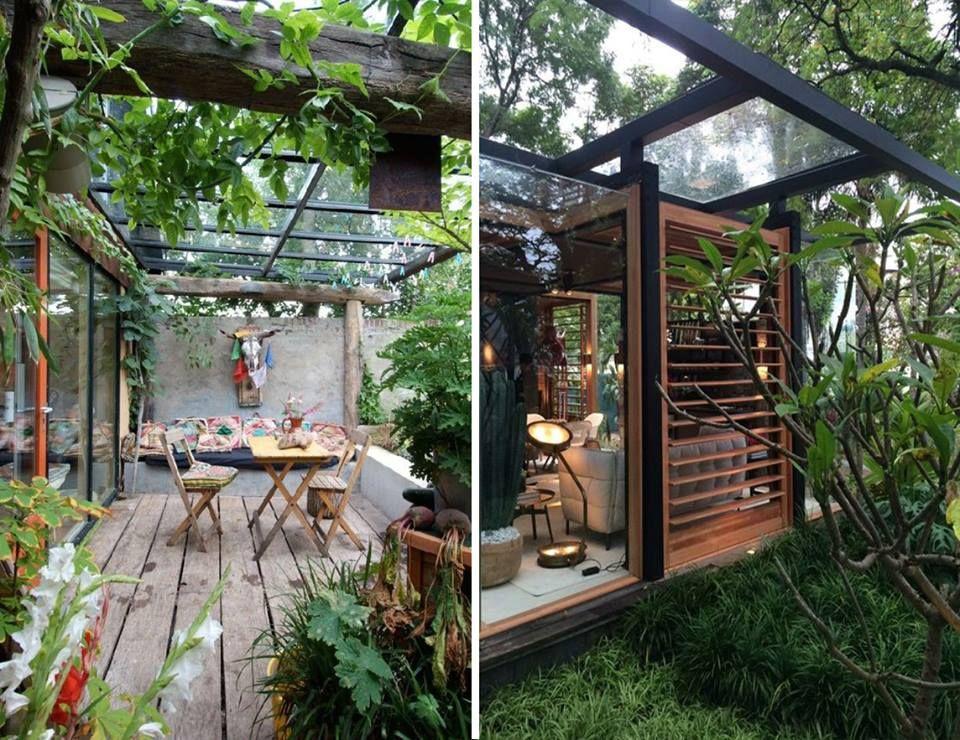Toit de terrasse en Verre,Pergola Vitrée ou Véranda en Double - maison toit en verre