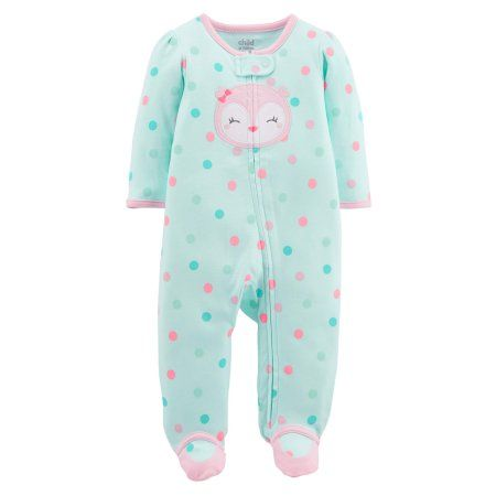 c23898a2e743 Child of Mine by Carter s Baby Girl Zip-up Sleep  N Play