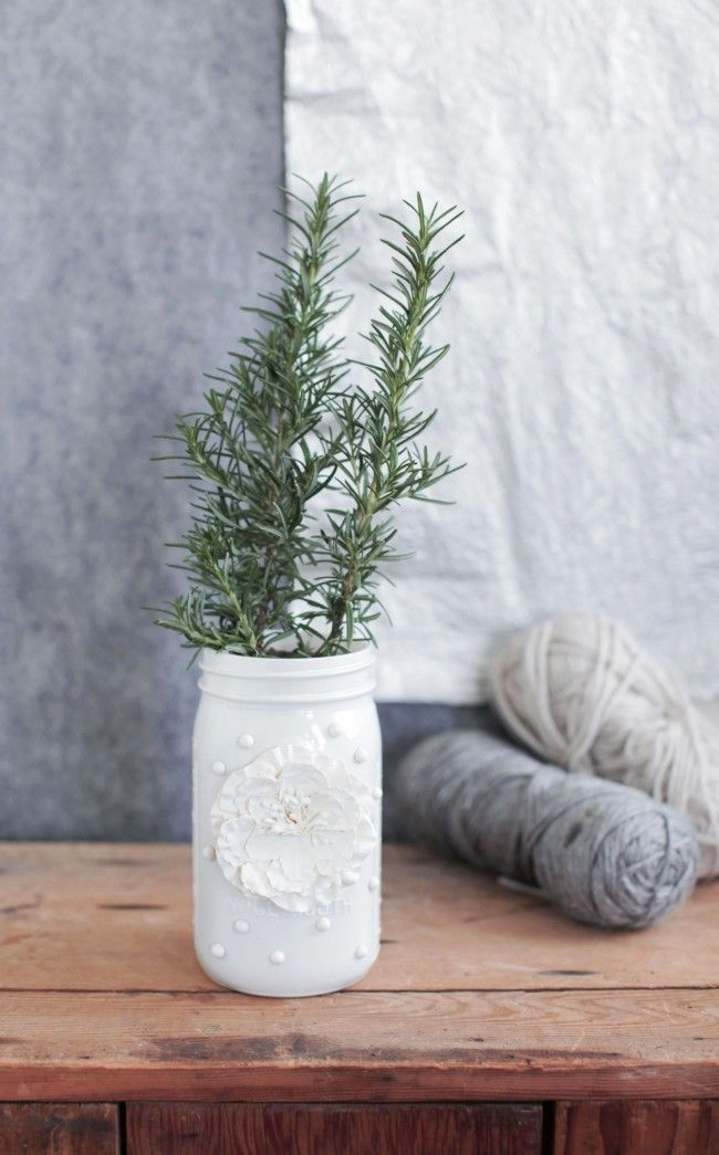 Mason Jar Diy 3d Flower Vase Mason Jar Decor Diy Pinterest
