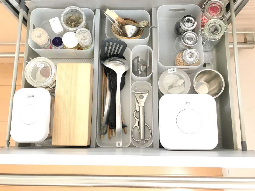 キッチンの取り出しにくい調理ツール収納を解消 1軍 2軍 分けが