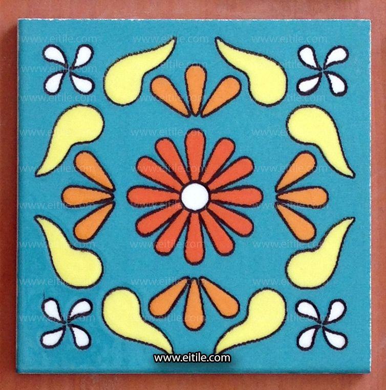 أزرق فيروزي بلاط مصنوع يدويا من إيران Tile Design Pattern Handmade Tiles Interior Design With Tiles