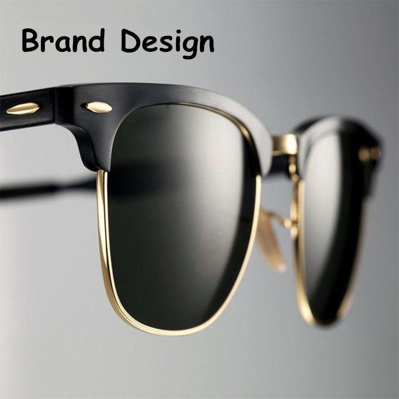 a696666f11d 2019 Classic Men Half Frame Polarized Sunglasses Women Brand Designer  Vintage Mirror Female Sunglass Male Sun Glasses For Women