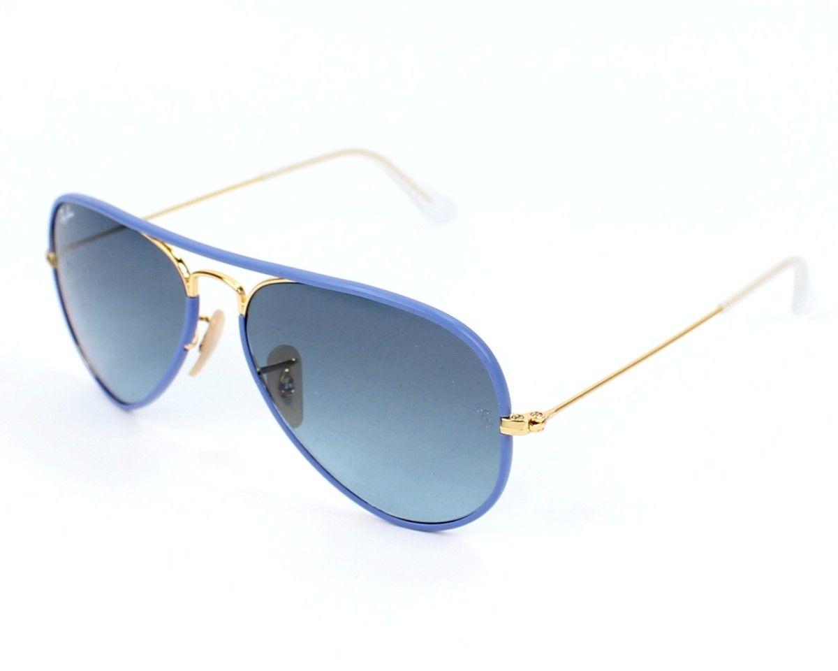 Reference  RB3025JM - 001 4M □ Model  Unisex □ Frame material  Metal □  Frame colour  Blue sky - Gold □ Lens colour  Grey blue Gradient 1321389d9d044