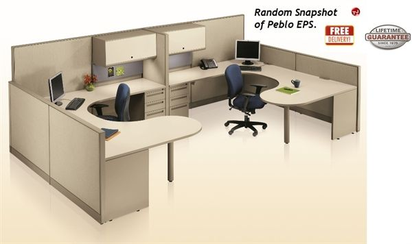 U Shape Office Desk Cubicle
