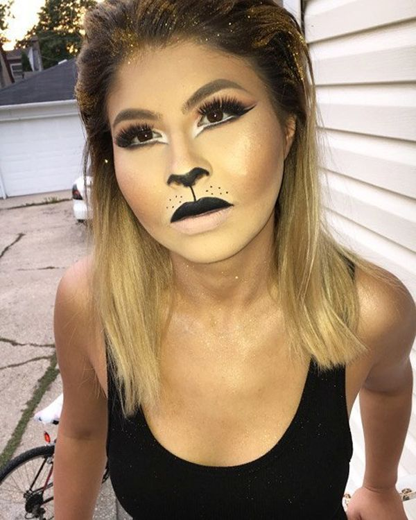 These 20 Cool Halloween Makeup Ideas Are All You Need for a Kickass - cat halloween makeup ideas