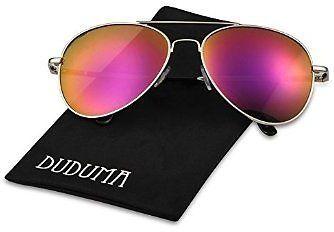 03c766dd382 Duduma Premium Full Mirrored Aviator Sunglasses w  Flash Mirror Lens Uv400  (Silver Frame Pink Mirror Lens  coupon code …  coupons  discounts