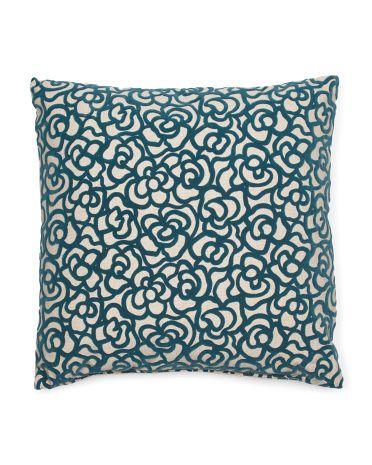 22x22 Oversized Pattern Pillow Decorative Pillows T J
