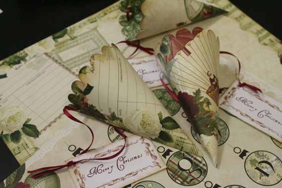 Faithful Crafter: Christmas Paper Cones with Webster's Pages