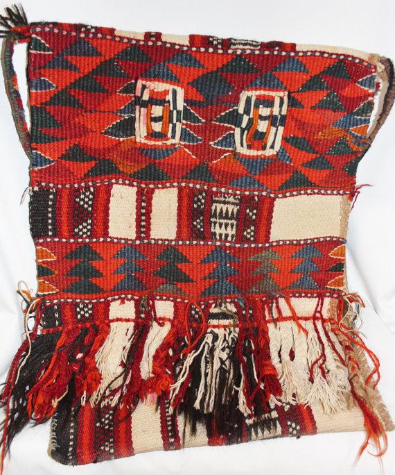 Camel Saddle Bags : Vintage Handmade Kuwaiti Camel Saddle Bag