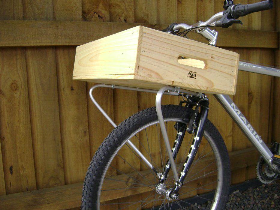 Weldless Front Bike Rack Maker Projects Diy Bike Rack Bike Rack