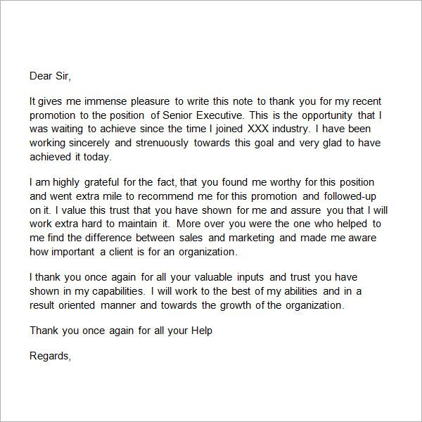 Sample Thank You Letter To Boss 11 Free Documents Download In Word Teacher Thank You Letter Thank You Letter To Boss Thank You Letter