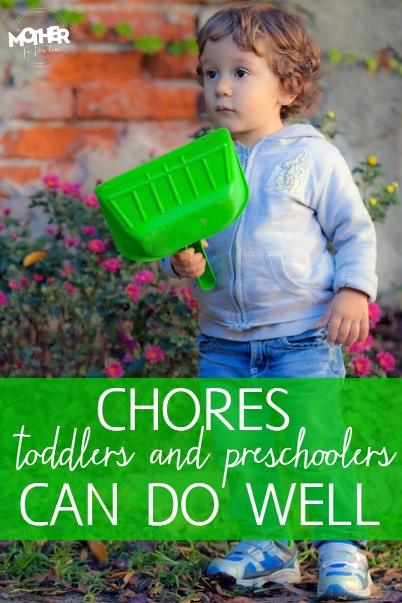 Real Chores Preschoolers and Toddlers Can Do Well