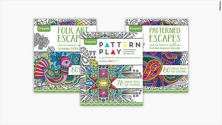Crayola launches its first coloring books for adults