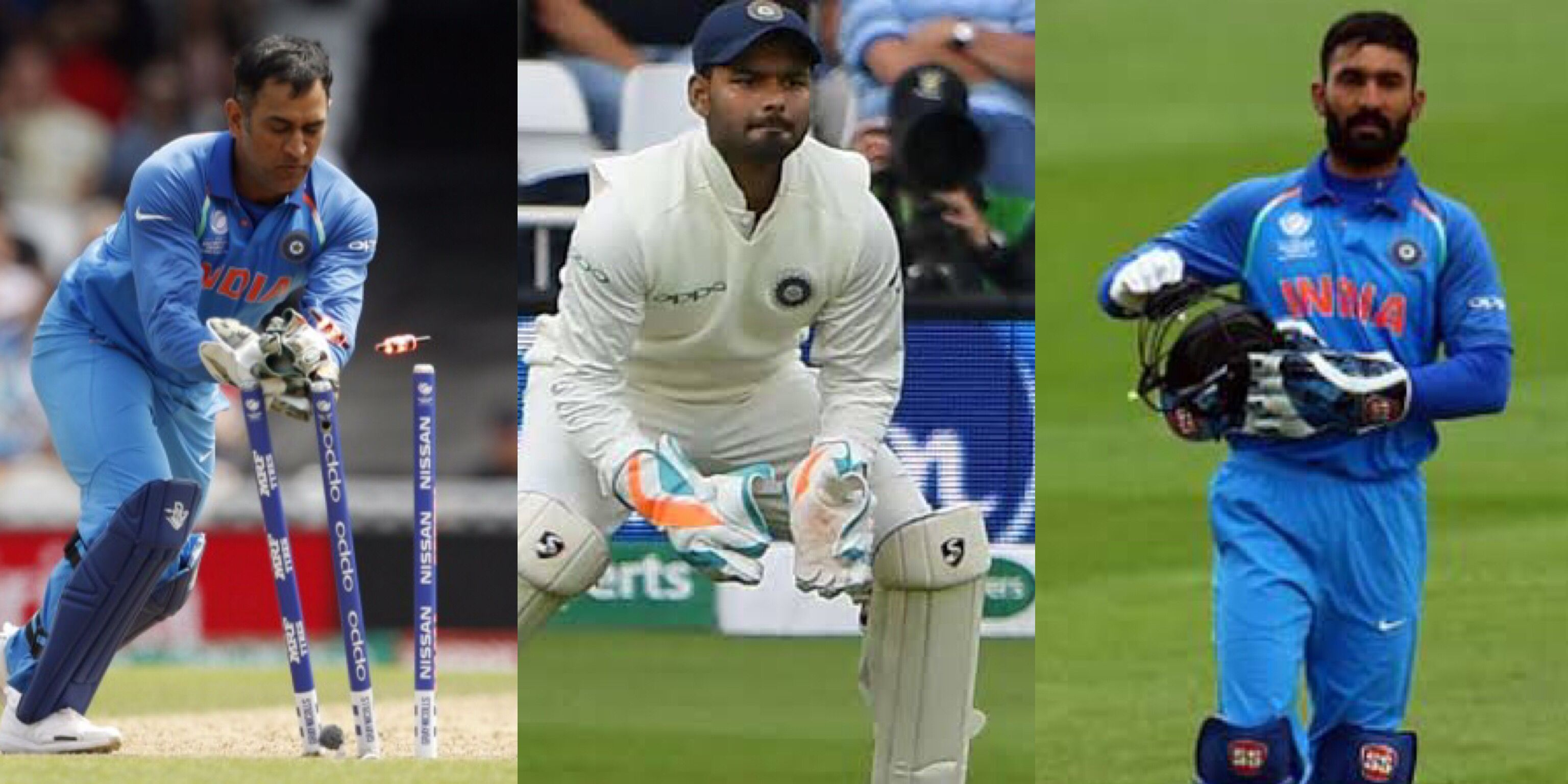 3 wicketkeepers in the playing XI for India in the first