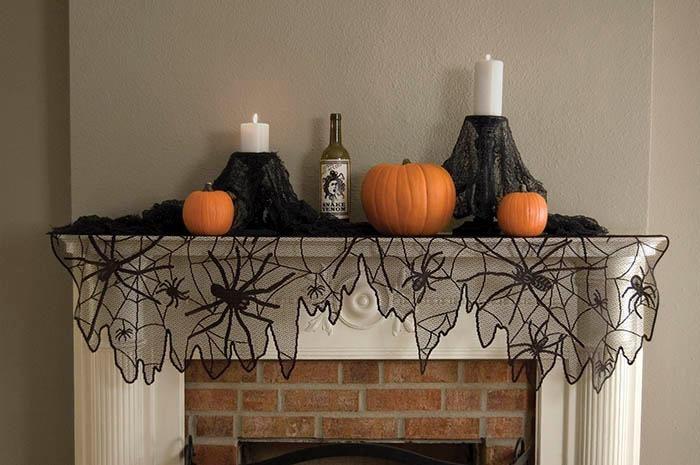 Halloween decorations  IDEAS  INSPIRATIONS Halloween Mantel - halloween decoration ideas home