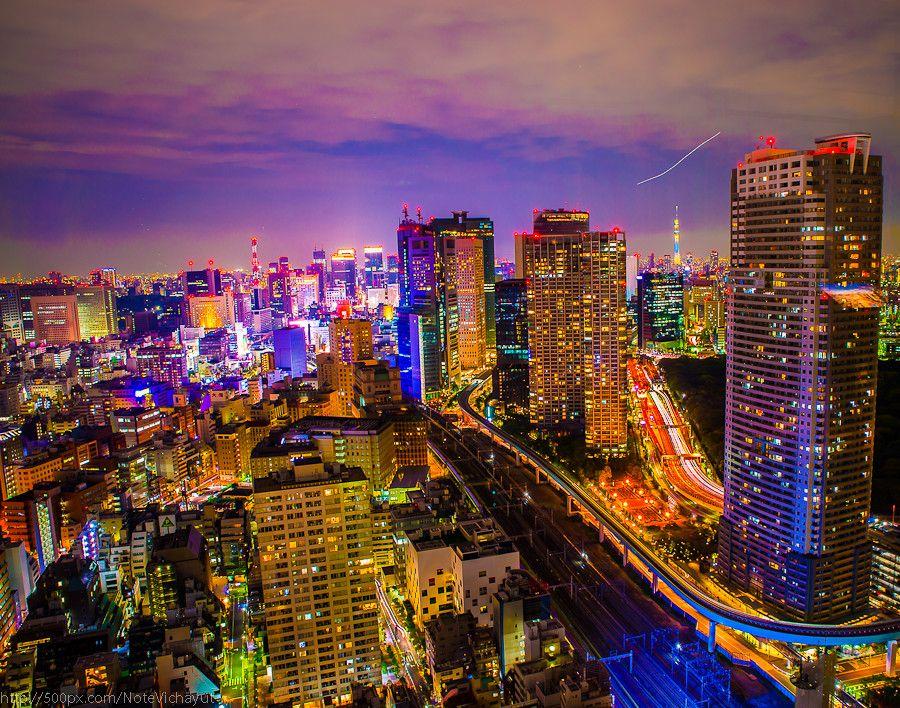 "500px / Photo ""Sci-fi City .. Tokyo"" by Note Vichayut"