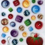 Scatole decorate con bottoni